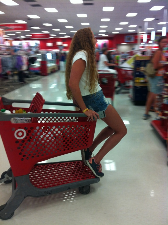 Kat during our 6th trip to Target