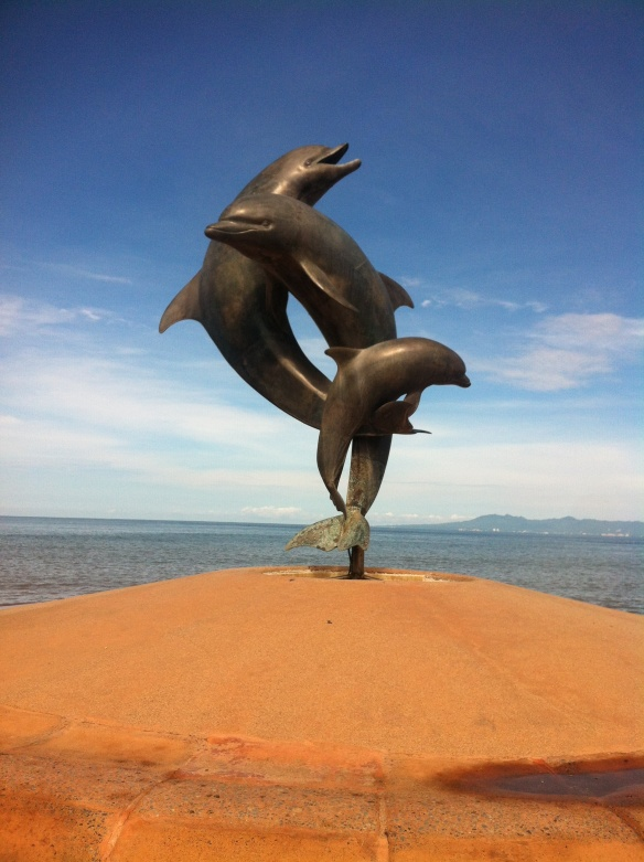 The dolphin statue in Puerto Vallarta by Bud Bottoms. It's a twin statue to the one on Stearn's Wharf in Santa Barbara.