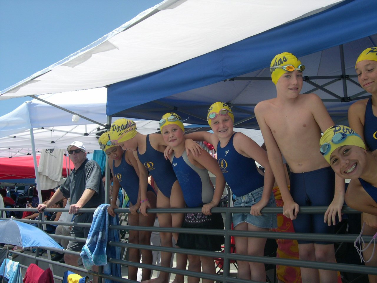 my confessions as a helicopter mom bleuwater my kids and their teammates at a meet in irvine years ago