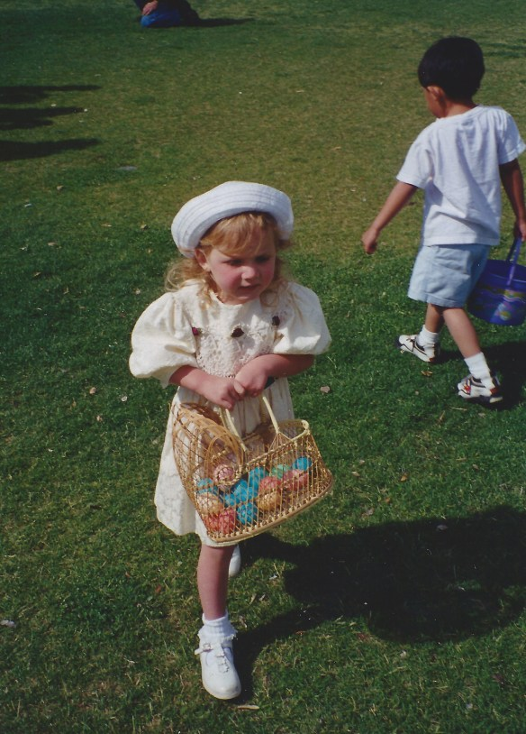 Kat at the Fireman's Annual Egg Hunt.